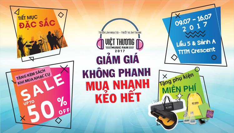 Việt Thương Music Fair - Triễn lãm nhạc cụ lớn nhất 2017