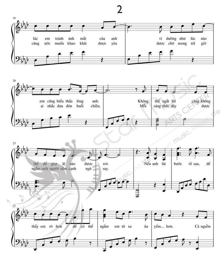 Dạy đánh đàn piano bài Phía sau một cô gái