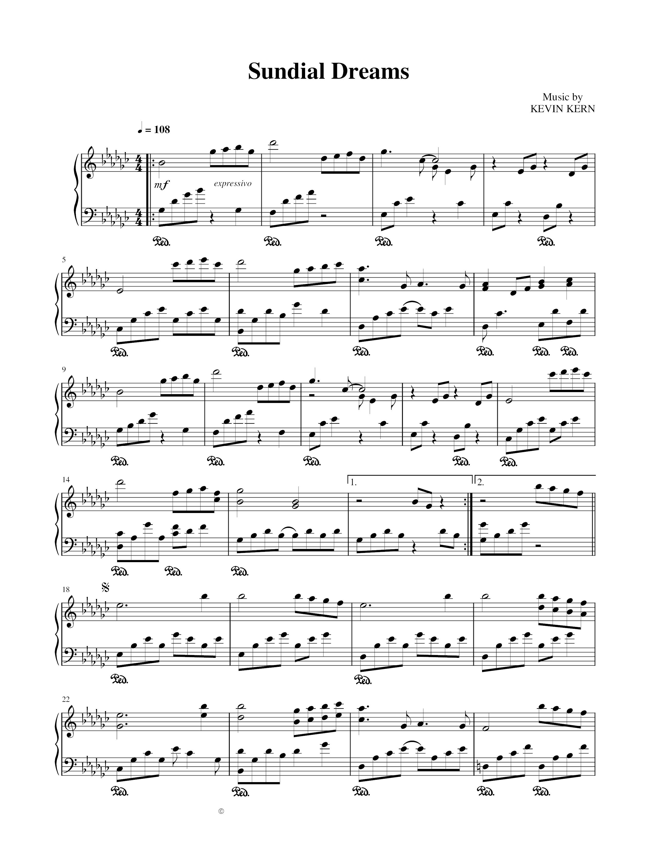 Hướng dẫn chơi Sundial dreams - Kevin Kern 2