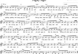 Sheet nhạc bài hát ngây ngô