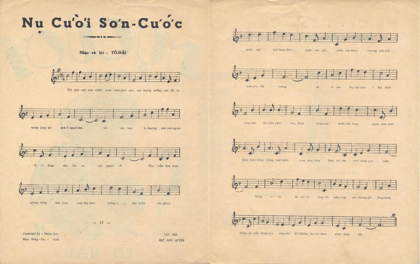Sheet nhạc bài hát nụ cười sơn cước 2