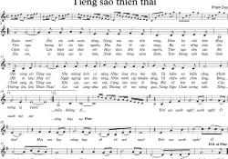 Sheet nhạc bài hát tiếng sáo thiên thai
