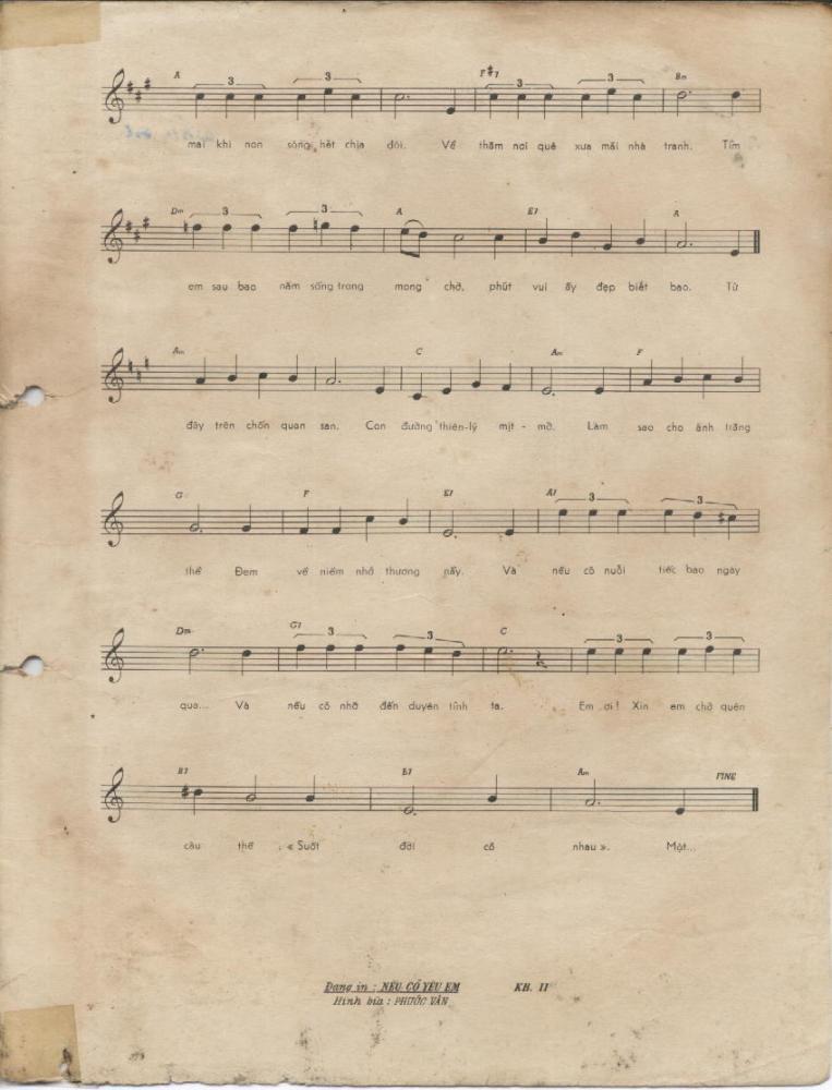Sheet nhạc bài hát trăng thề 2