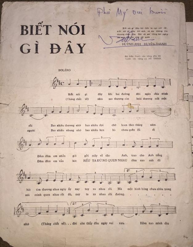 Sheet nhạc bài hát biết nói gì đây 1