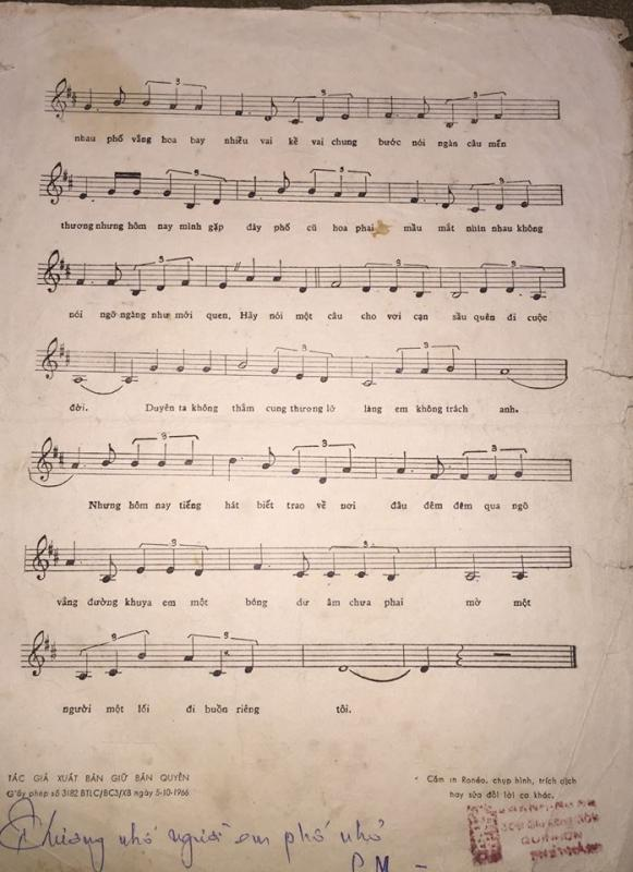 Sheet nhạc bài hát biết nói gì đây 2