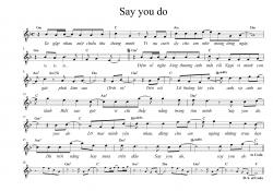 Sheet nhạc bài hát say you do 1